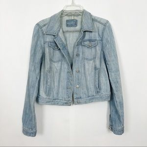 Loft | Denim Jacket | M | Light Blue
